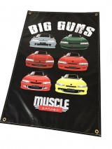 MUSCLE GARAGE BIG GUNS SHED BANNER