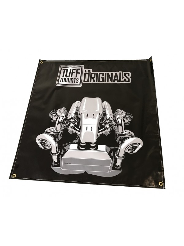 TUFF MOUNTS TWIN TURBO ENGINE SHED BANNER
