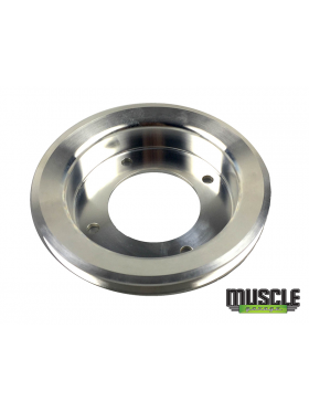 MUSCLE GARAGE, 308 ENGINE POLISHED ALLOY CRANK PULLEY