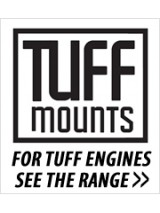 TUFF MOUNTS TUBULAR GEARBOX CROSSMEMBER TO SUIT Foxbody Mustang BARRA CONVERSION WITH BTR TRANS
